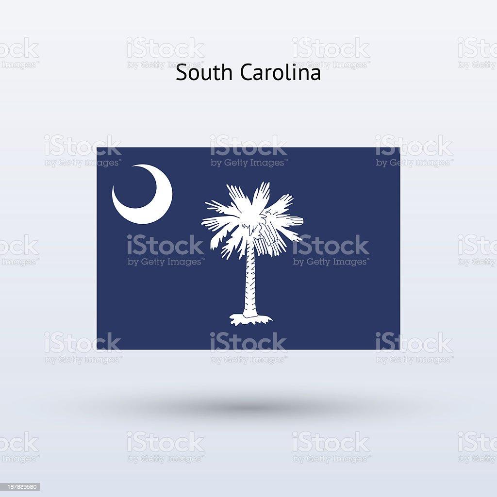 State of South Carolina Flag royalty-free stock vector art