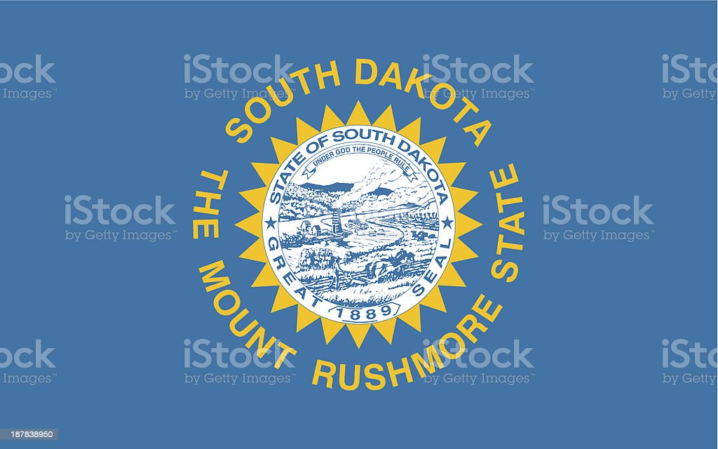 State of South Dakota Flag vector art illustration