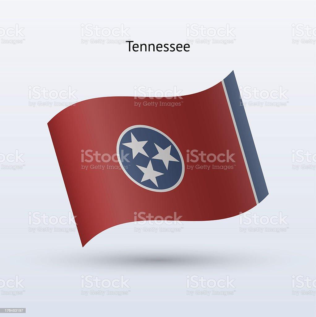 Bandeira do estado do Tennessee - ilustração de arte em vetor