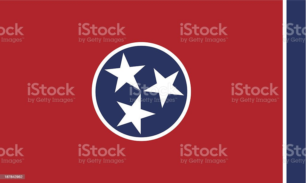 State of Tennessee Flag vector art illustration