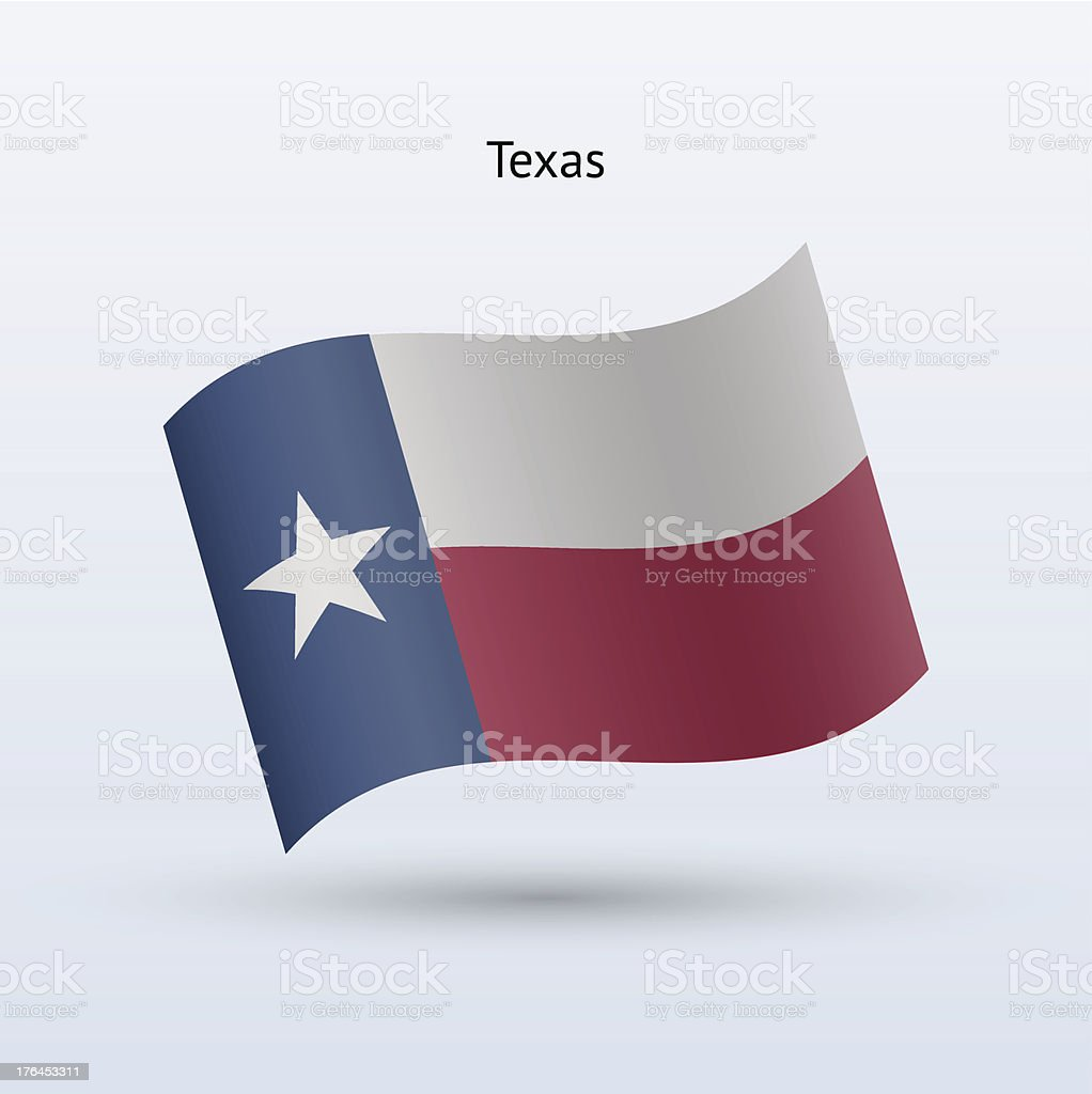 State of Texas Flag royalty-free stock vector art