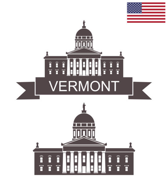 state of vermont. vermont state house - white house stock illustrations