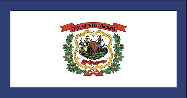State of West Virginia Flag vector art illustration