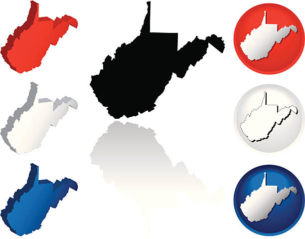 west virginia state outline red clip art vector images illustrations