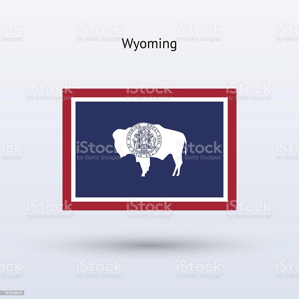 Bandeira do estado de Wyoming - ilustração de arte em vetor