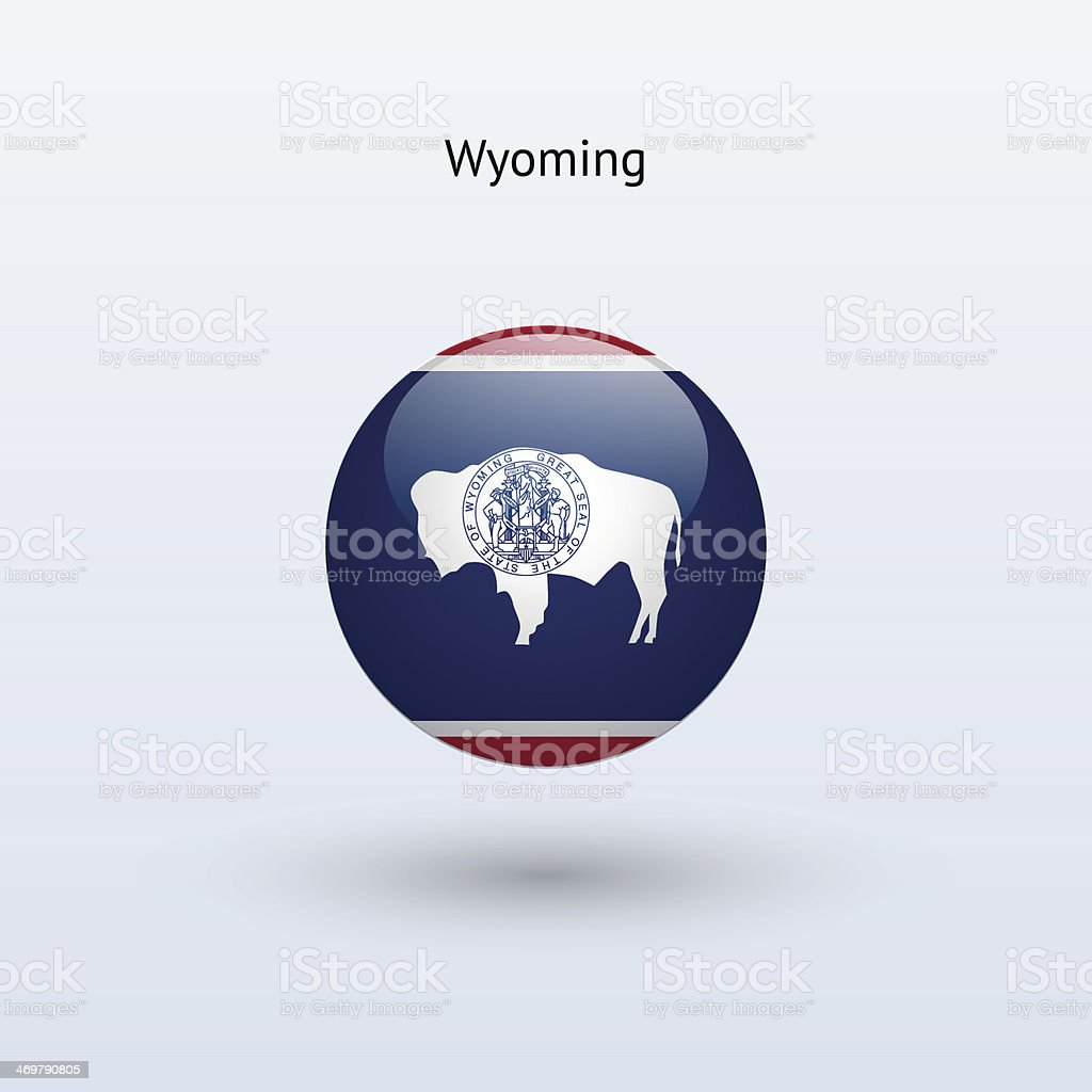 State of Wyoming Flag royalty-free stock vector art