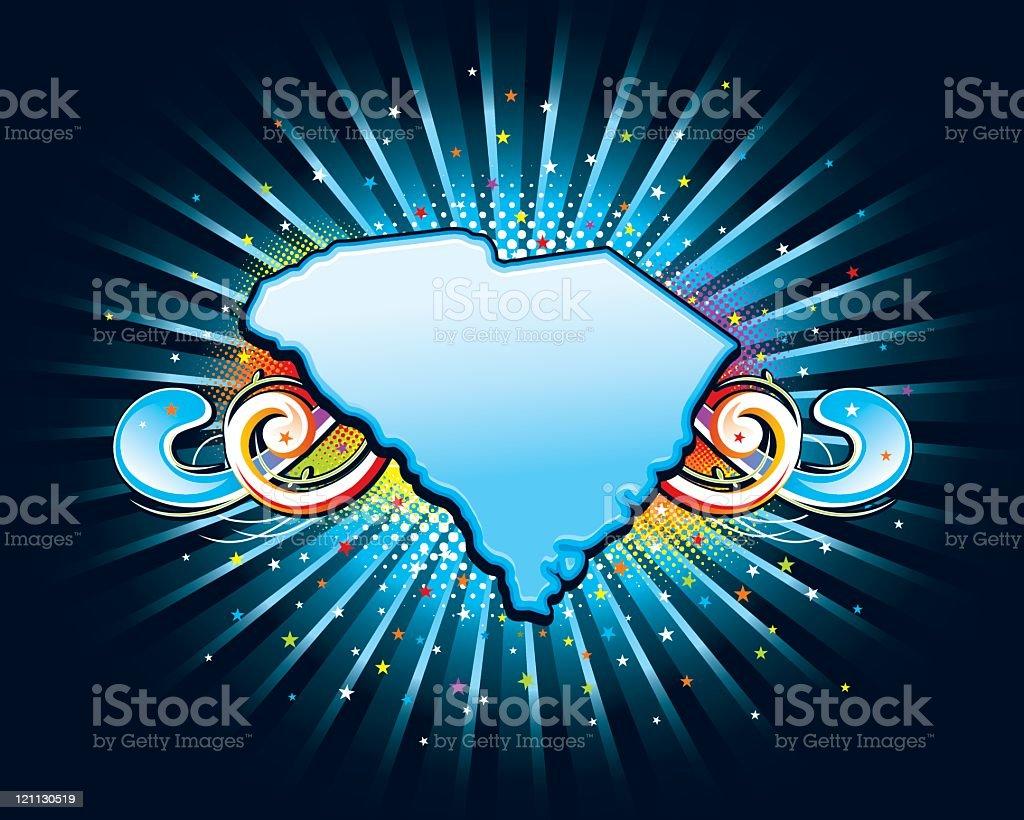 USA state series - South Carolina royalty-free stock vector art