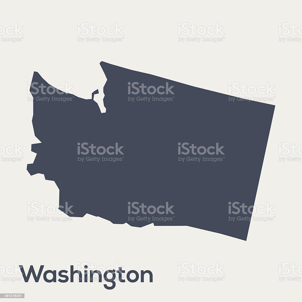 USA state Washington vector art illustration