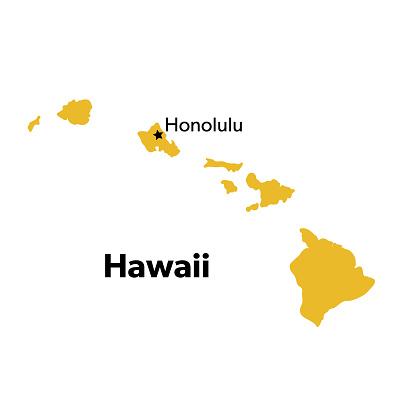 U.S State With Capital City, Hawaii