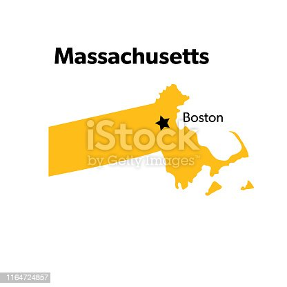 Isolated U.S.A State With Capital City