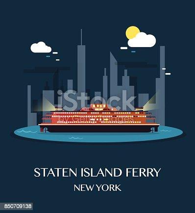 istock Staten Island Ferry.Vector Illustration. 850709138
