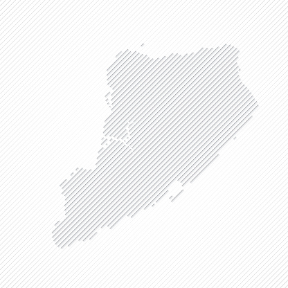 Staten Island map designed with lines on white background