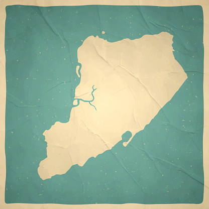 Staten Island map in retro vintage style - Old textured paper