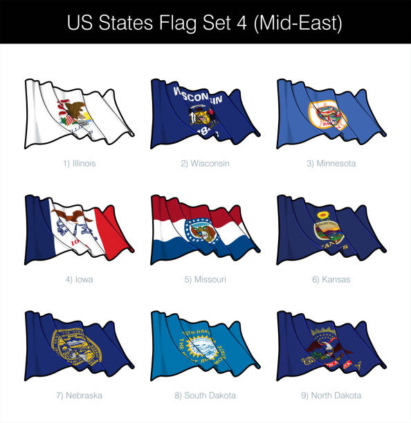 ilustraciones, imágenes clip art, dibujos animados e iconos de stock de conjunto de banderas de los estados unidos - oriente medio - mount rushmore
