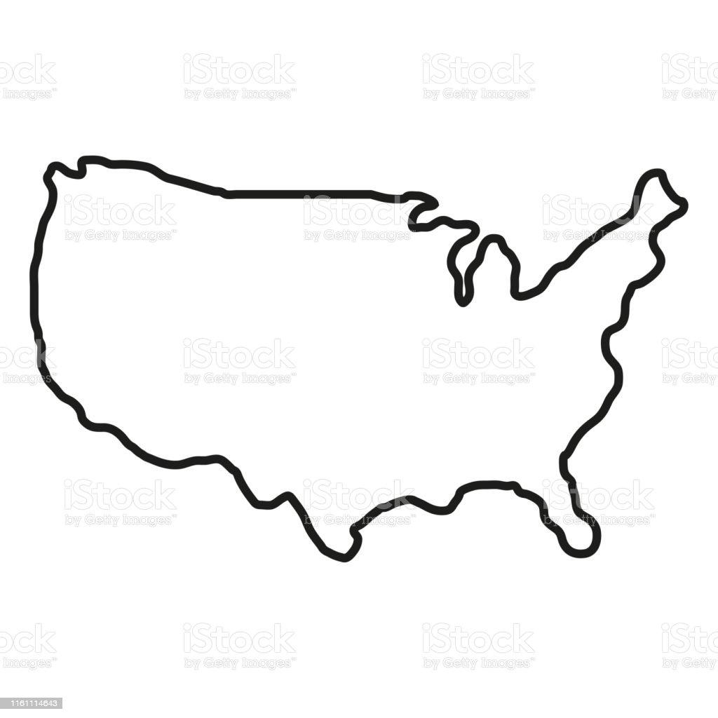 Territoire d'États d'Amérique sur le fond blanc. Amérique du Nord. Illustration de vecteur - clipart vectoriel de Amérique du Nord libre de droits