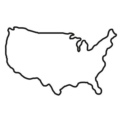 Territoire Détats Damérique Sur Le Fond Blanc Amérique Du Nord Illustration De Vecteur Vecteurs libres de droits et plus d'images vectorielles de Amérique du Nord