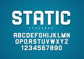 Static vector decorative bold font design, alphabet, typeface, t