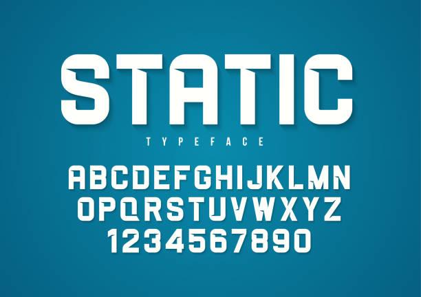 Static vector decorative bold font design, alphabet, typeface, t Static vector decorative bold font design, alphabet, typeface, typography capital letter stock illustrations