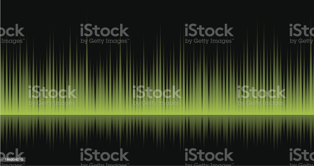 Static Wave Green royalty-free static wave green stock vector art & more images of arts culture and entertainment