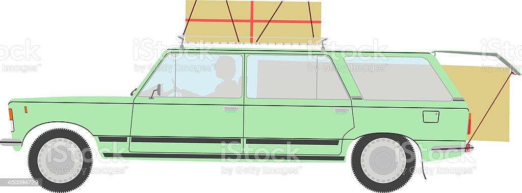 Station wagon. vector art illustration