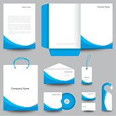 Corporate identity design, vector illustration.