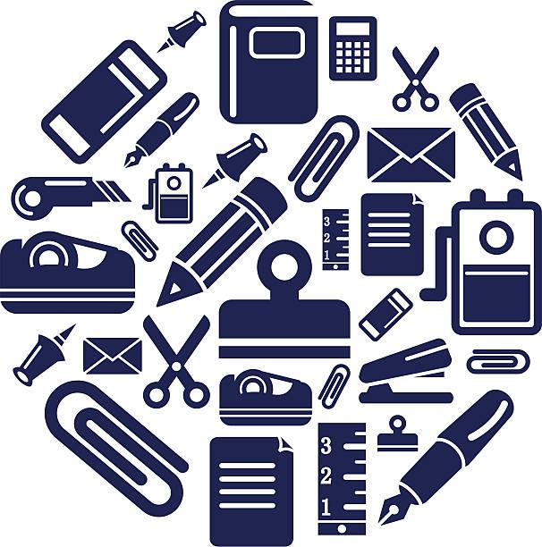 サイクリングのアイコンのサークル型 - 学校の文房具点のイラスト素材/クリップアート素材/マンガ素材/アイコン素材