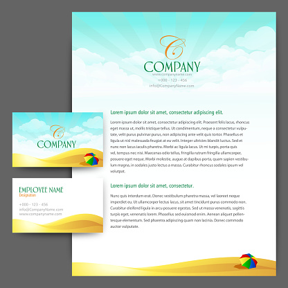 Stationary set Letterhead with Card