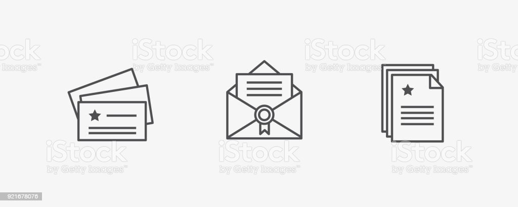 Stationary vector icons set business card envelope blank page stationary vector icons set business card envelope blank page corporate identity minimal colourmoves