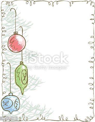 istock Stationary with Christmas tree with ornaments 472270185