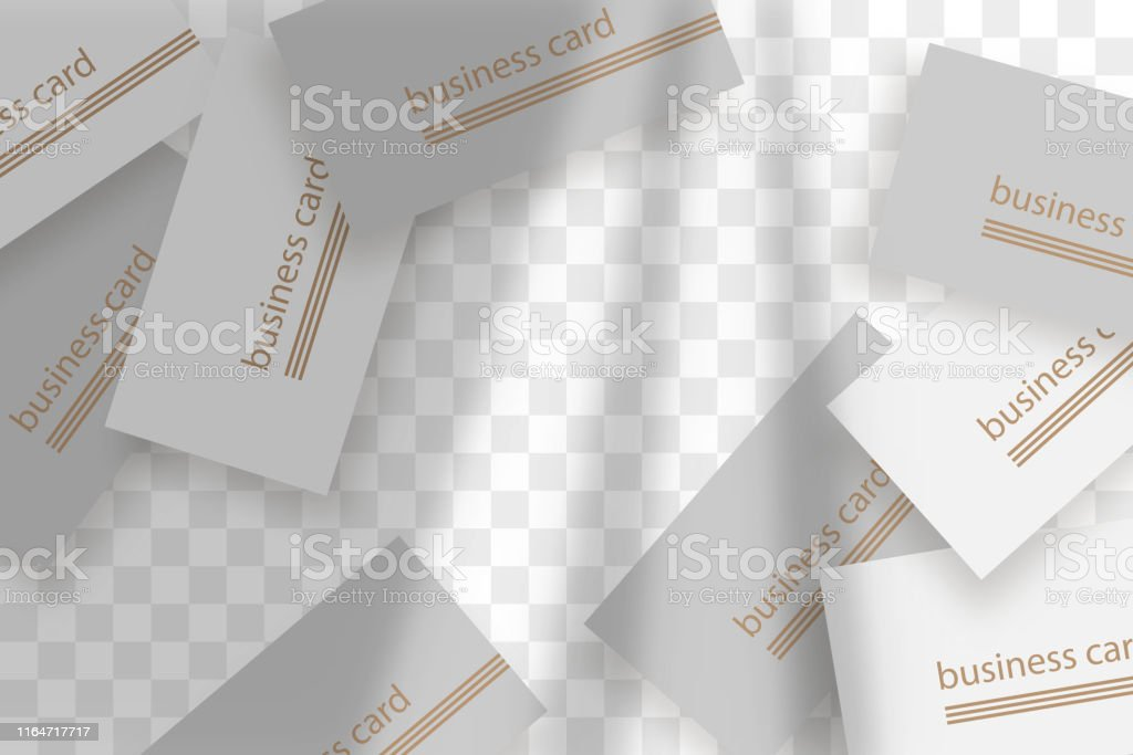 Stationery business branding mockup in realism style with transparent...