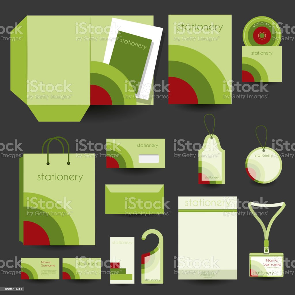 Stationery design template royalty-free stock vector art