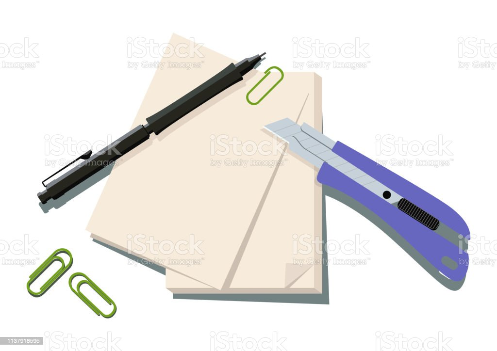 Clip art of Stationery.