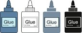 Stationery office glue tube