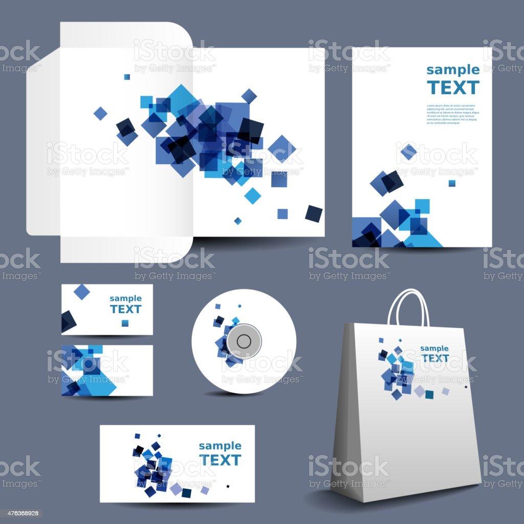 Briefpapiervorlage Corporatedesign Mit Abstrakte Blaue Quadrate ...