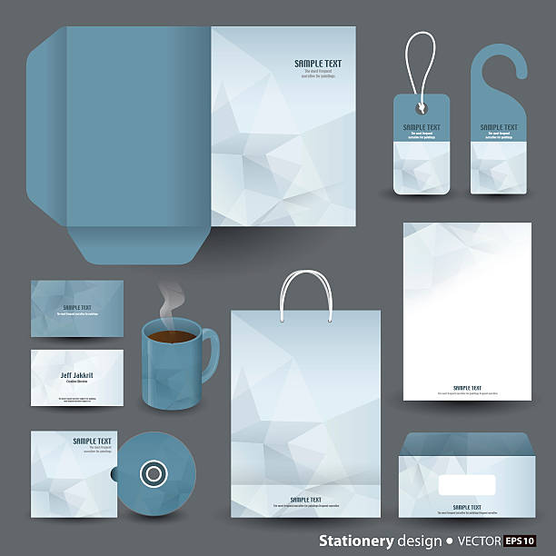 Stationery template design. Vector illustration was made in eps 10 with gradients and transparency. stationery templates stock illustrations