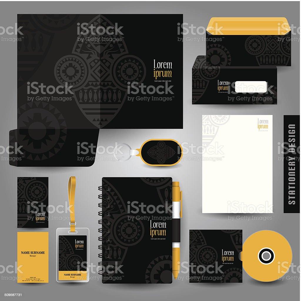 Stationery template design. vector art illustration