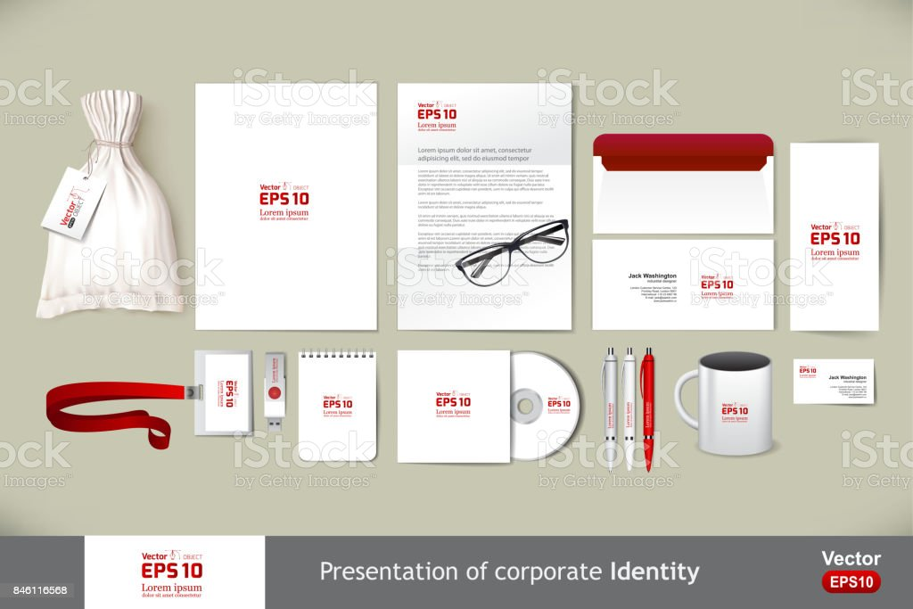 Stationery template mockup. Documentation for business. vector art illustration