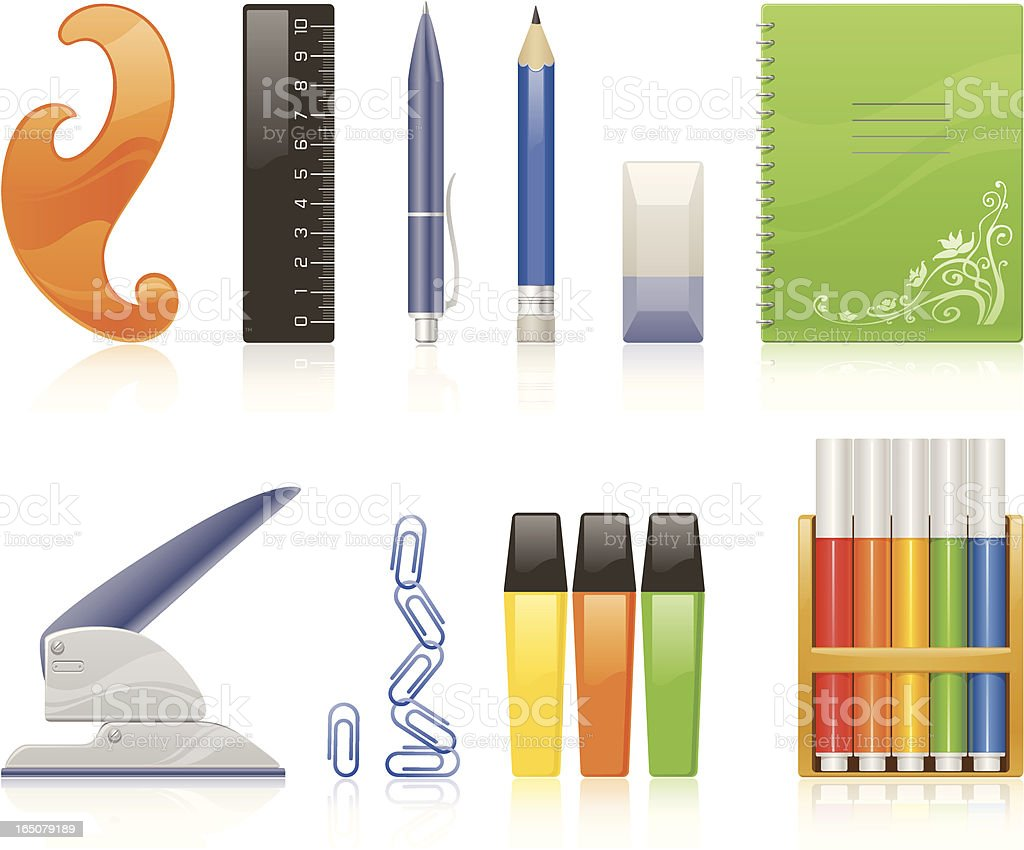 Stationery royalty-free stock vector art
