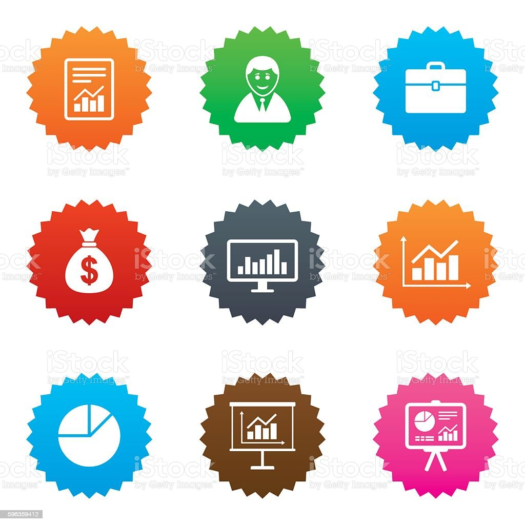 Statistics, accounting icons. Charts signs. royalty-free statistics accounting icons charts signs stock vector art & more images of adult