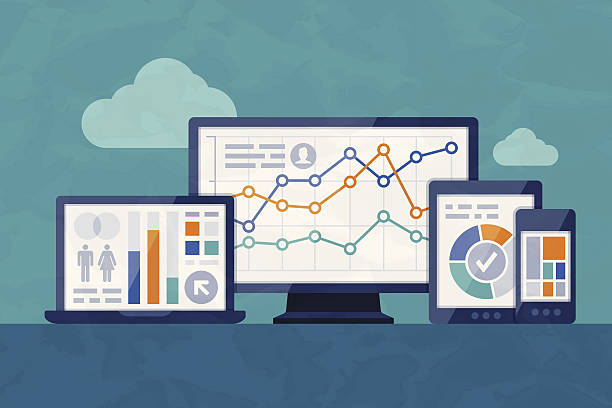 statistics and analysis - seo stock illustrations, clip art, cartoons, & icons