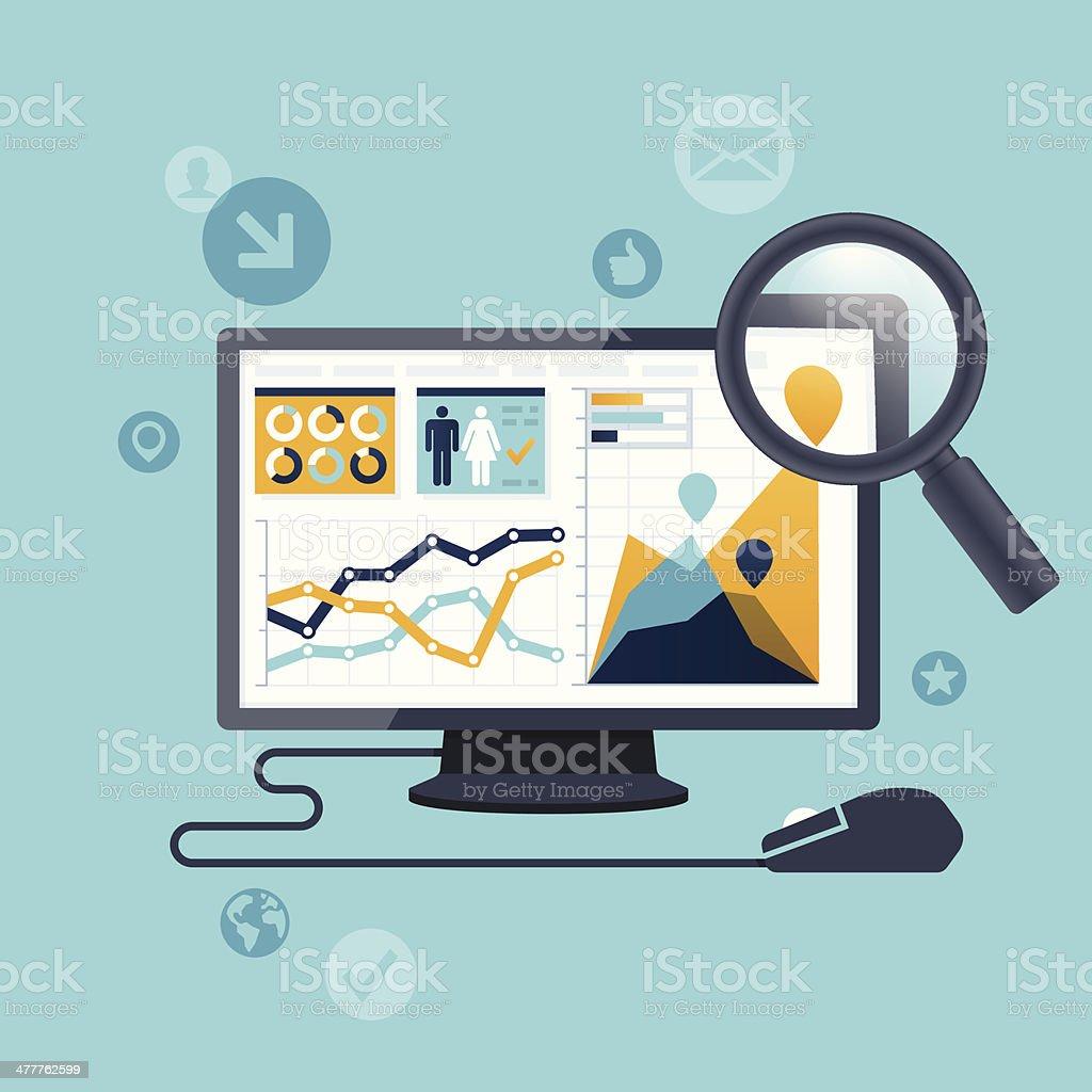 Les statistiques ordinateur - Illustration vectorielle
