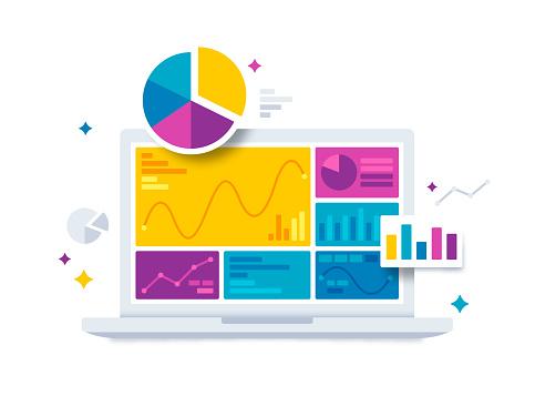 finance infographics stock illustrations