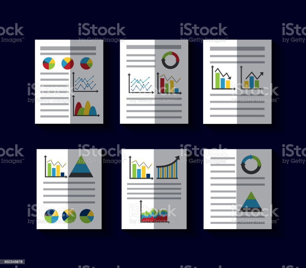 statistics data business report template style charts and graphs