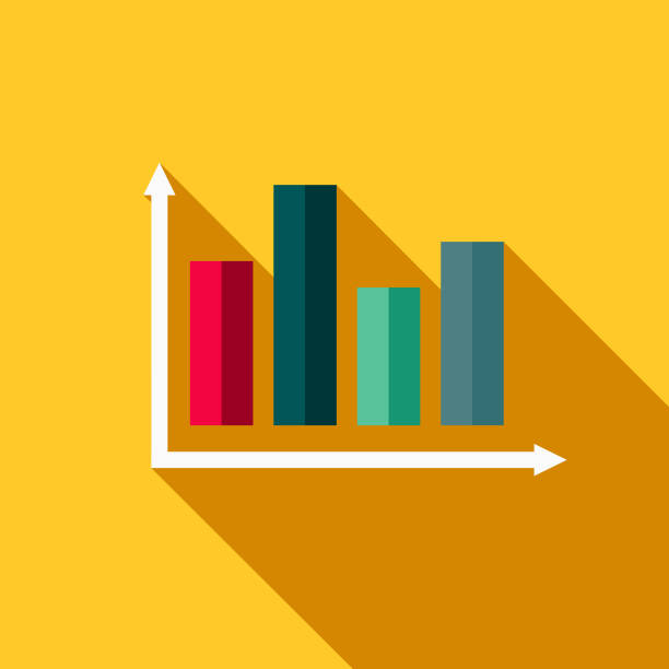 Statistics Flat Design Fitness & Exercise Icon vector art illustration