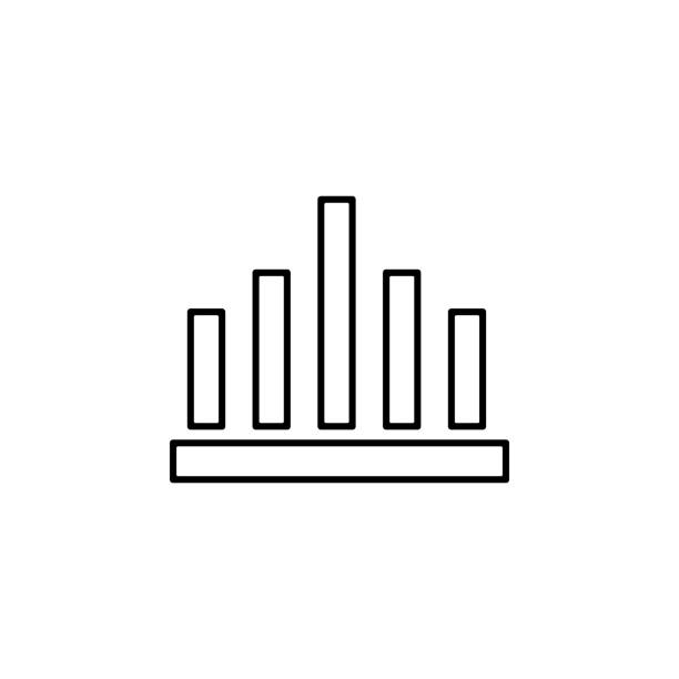 illustrations, cliparts, dessins animés et icônes de icône de statistiques. élément de financement pour l'icône apps mobile concept et web. icône de la ligne mince pour la conception de sites web et développement, développement d'application. icône de prime - infographie processus