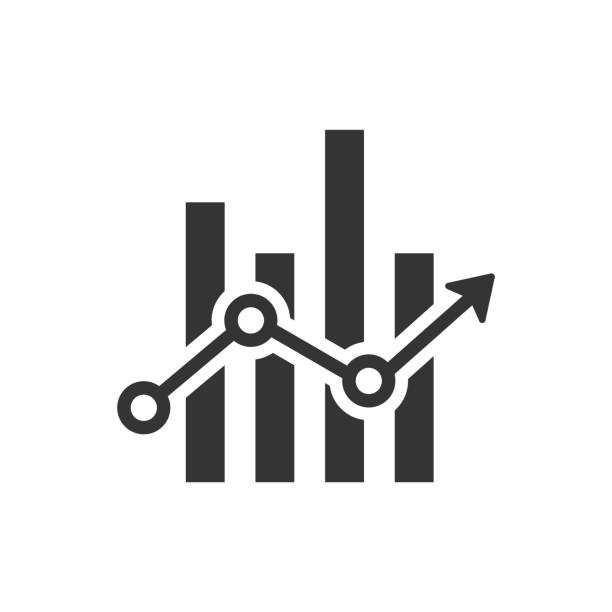 statistics report icon - dane giełdowe stock illustrations
