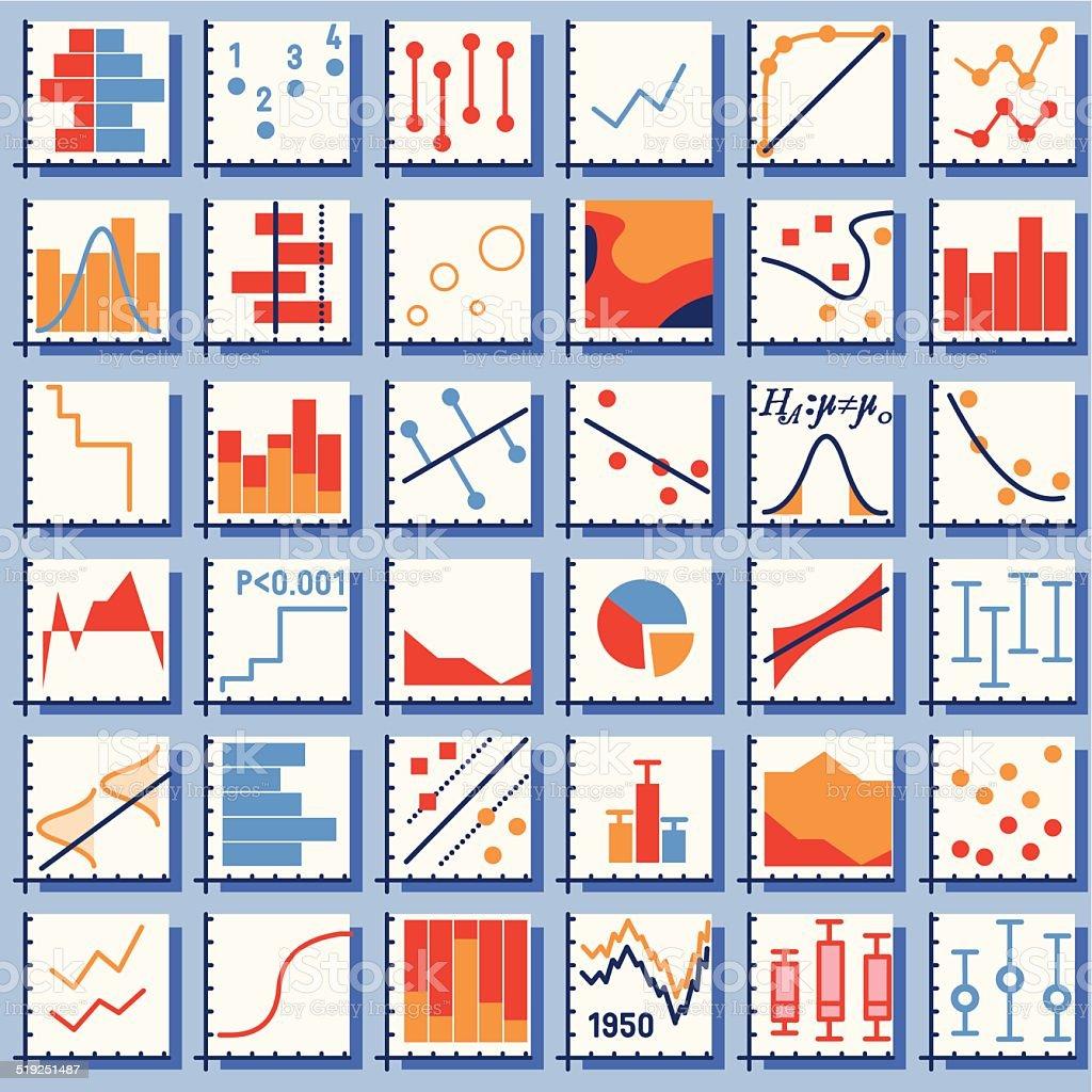 Stats Element Set vector art illustration