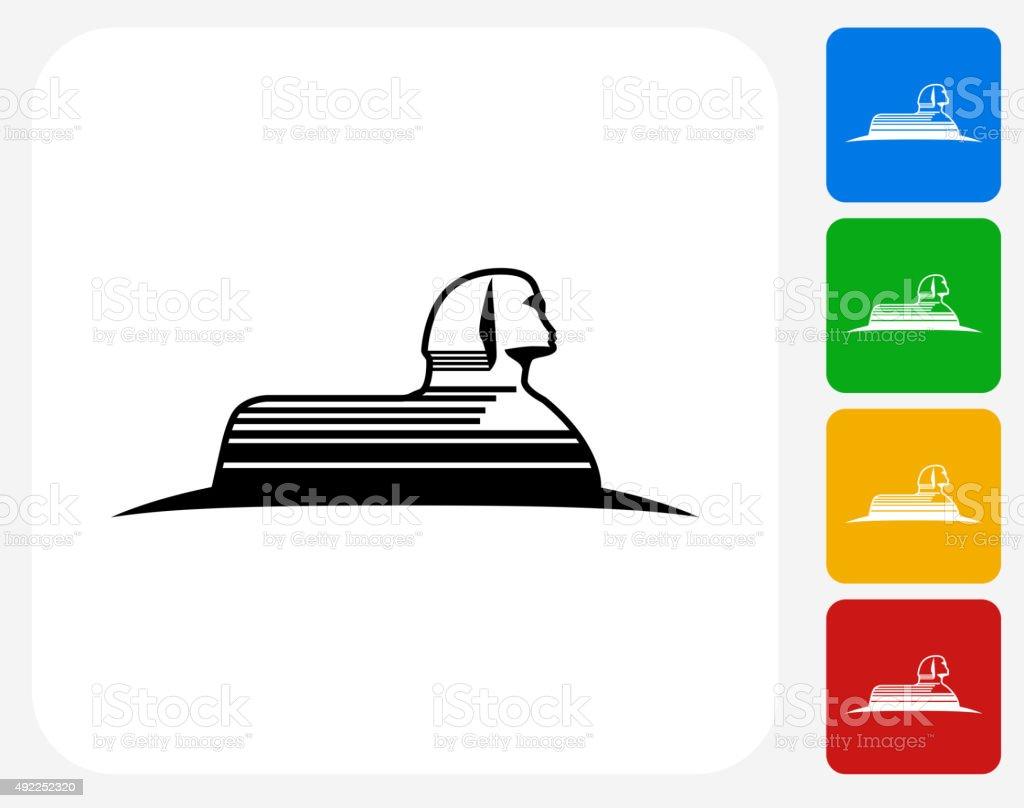 Statue of Giza Icon Flat Graphic Design vector art illustration