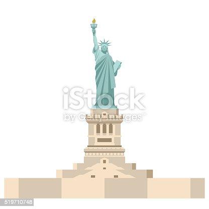Ilustración de Estatua De La Libertad En América Símbolo Nacional De ...