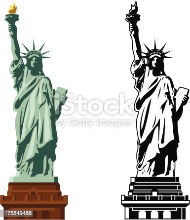 istock Statue of Liberty in color and B&W 175849488